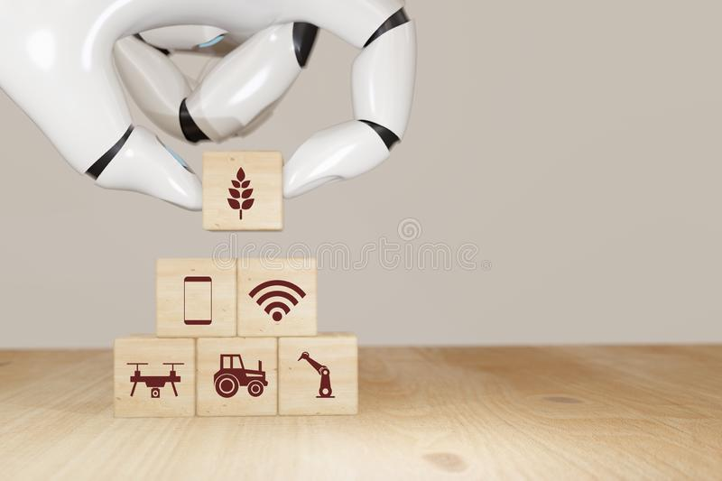 d-rendering-robot-hand-pick-choose-smart-agriculture-futuristic-technology-concept-icon-including-wireless-wifi-ai-artificial-164852766